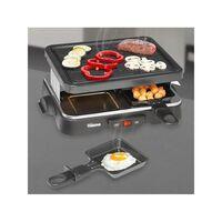 Tristar Griglia per Raclette per 4 Persone 500 W 22x17,5 cm Nera