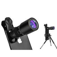Obiettivo fotografico con zoom 18x con treppiede per cellulare - nero