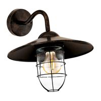 "EGLO Outdoor Wall Light ""Melgoa"" Dark Brown 60 W 94863"