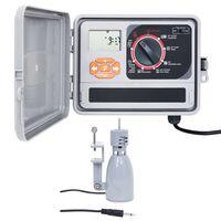 vidaXL Regolatore Irrigazione con Sensore Pioggia