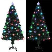 vidaXL Albero di Natale Artificiale con Supporto/LED 150 cm 170 Rami