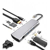 Adattatore multiporta USB-C - hub con 9 porte
