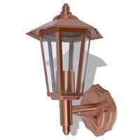 vidaXL Lanterna da Parete per Esterno in Acciaio Inox Color Rame