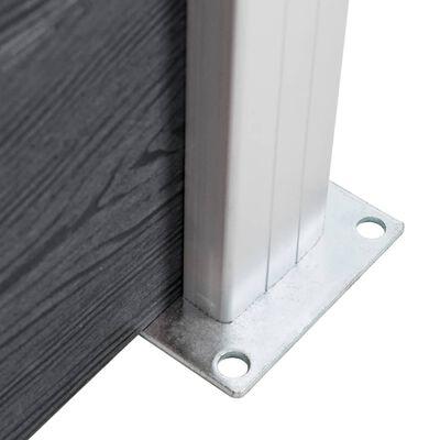 vidaXL Pali per Recinzione 2 pz in Alluminio 185 cm